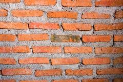 Muster der Wand des roten Backsteins für Hintergrund und gemasert, Lizenzfreies Stockbild