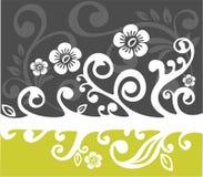 Muster der weißen Blumen Stockbilder