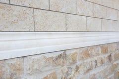 Muster der weißen modernen Backsteinmauer Lizenzfreie Stockfotos