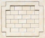 Muster der weißen modernen Backsteinmauer Stockbilder