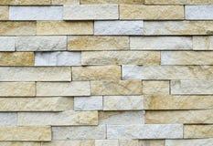 Muster der weißen modernen Steinbacksteinmauer tauchte auf Stockfotografie