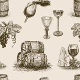 Muster der Weinproduktion stock abbildung