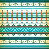 Muster des amerikanischen Ureinwohners Vektor-Weinleseamerikaner Stockfoto