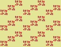Muster des Aquarellsatzes der roten Mohnblume Lizenzfreies Stockbild