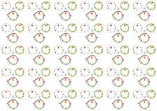 Muster des Aquarellweihnachtskranz-Glockenbogens Lizenzfreie Stockfotografie