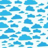 Muster des blauen Himmels mit Wolken Stockbild