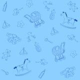 Muster des blauen Schätzchens vektor abbildung