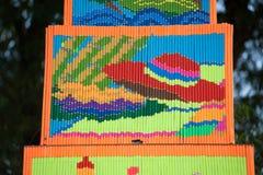 Muster des dekorativen Weihrauchs in der Parade Traditions-Verdienstaktion des Weihrauchs der buddhistischen Lizenzfreie Stockbilder