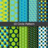 Muster des farbigen Kreises Stockfotografie