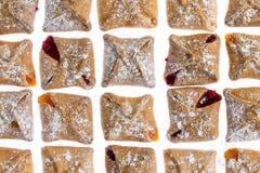 Muster des geschmackvollen frischen Frühstücksgebäcks Stockbilder