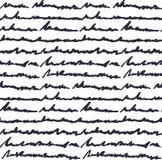 Muster des Handschriftlichen Textes vektor abbildung