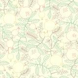 Muster des linearen Granatapfel- und Apfelbaums Lizenzfreie Stockfotos