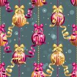 Muster des neuen Jahres mit Ball Kann als Gruß-Karte oder Abdeckung verwendet werden Stockfoto