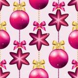 Muster des neuen Jahres mit Ball Kann als Gruß-Karte oder Abdeckung verwendet werden Lizenzfreie Stockfotografie