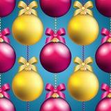 Muster des neuen Jahres mit Ball Kann als Gruß-Karte oder Abdeckung verwendet werden Lizenzfreies Stockfoto