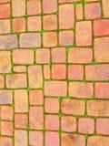 Muster des roten Backsteins auf dem Bürgersteig Lizenzfreies Stockbild
