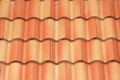 Muster des roten Dachs auf Haus Lizenzfreies Stockbild