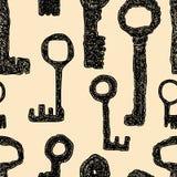 Muster des Satzes der mittelalterlichen Schlüssel Stockfotos