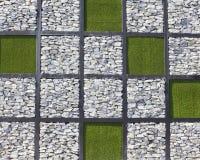Muster des Steins und des Grases Lizenzfreies Stockbild