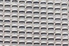 Muster des Terrasse ob Höhengebäudes Lizenzfreie Stockfotos
