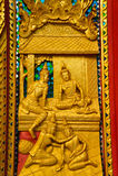 Muster des thailändischen Tempelfensters Stockfotos
