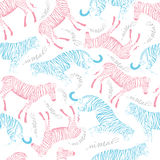 Muster des Tigers und des Zebras Stockfoto