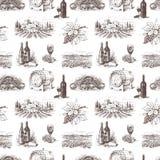Muster des Traubenweins Lizenzfreie Stockfotografie