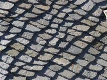 Muster des vitage Steindachs Lizenzfreies Stockfoto