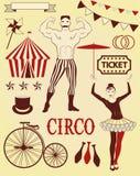 Muster des Zirkusses Stockbild