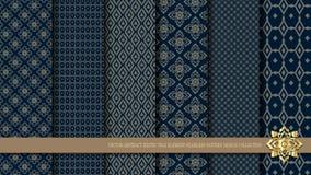 Muster-Designsammlung des Vektors abstrakte exotische thailändische nahtlose Lizenzfreie Stockfotos