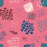 Muster-Druckhintergrund Zusammenfassung Watercolour nahtloser vektor abbildung