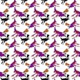 Muster einer Hexe auf einem Besen stockfoto