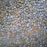 Muster eines bunten kleinen Felsens stockfoto