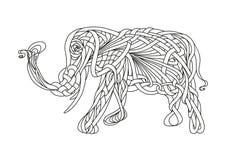 Muster eines Elefanten Stockbilder