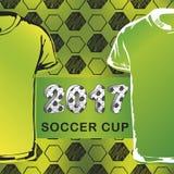 Muster für Fußballmeisterschaft mit T-Shirt Stockfotos