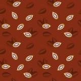 Muster für Hintergrund - Kakaobohnen Lizenzfreies Stockbild