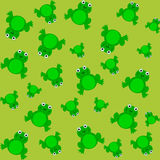 Muster für Packpapier und mit Frosch gefüllt Lizenzfreie Stockfotos