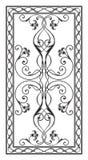 Muster für rechteckige Tischplatten Stockfotografie