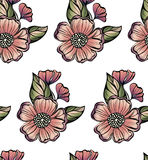 Muster flowers Vektor Abstrakte Blumen stock abbildung