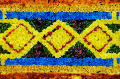 Muster gebildet von den Blumen Lizenzfreie Stockbilder