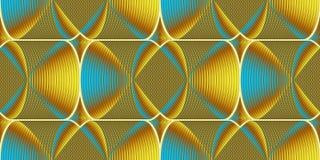 Muster gemacht von den metallischen Fliesen - Illustration Stockbilder