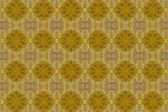 Muster geschaffen von einem gelben Blatt Lizenzfreie Stockfotos