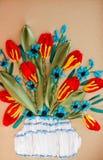 Muster gestickte Blume Stockfotografie
