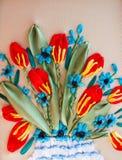 Muster gestickte Blume Stockbilder