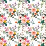 Muster-Gewebegewebe der bunten Blumen nahtloses vektor abbildung