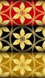 Muster Goldthailändisches Art Kra Jung Lizenzfreies Stockfoto