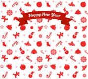 Muster-guten Rutsch ins Neue Jahr Lizenzfreies Stockfoto