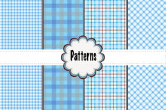 Muster-Heidekräuter und Dots Plaid Stockfotos