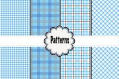 Muster-Heidekräuter und Dots Plaid Stockfotos