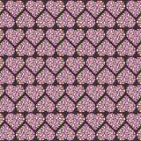 Muster-Herzen in der Kreisliebe Stockfoto